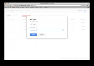 console google-create